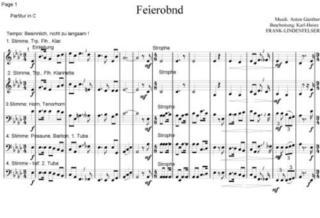Feierabend-Lied, s´is Feierobnd (Blechbläserquintett