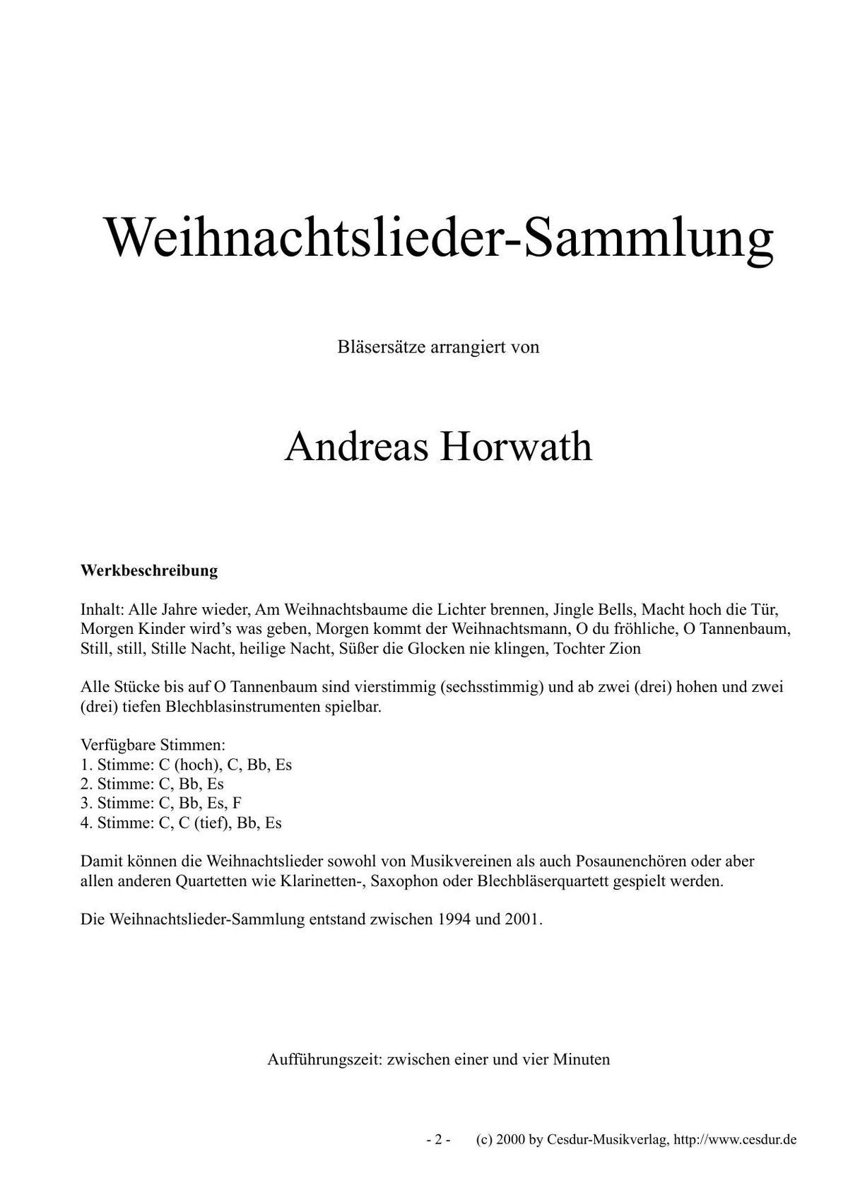 Weihnachtslieder Partitur.Dvo Druck Und Verlag Obermayer Gmbh