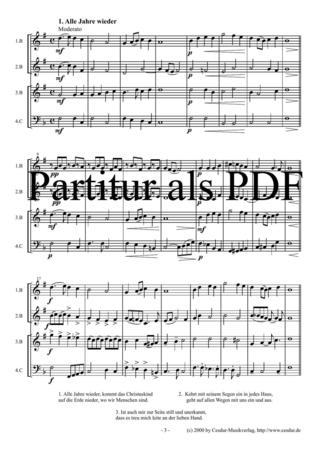 Weihnachtslieder Partitur.Weihnachtslieder Sammlung Noten Gemischtes Ensemble