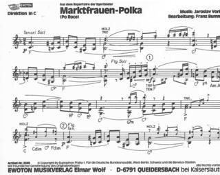 Marktfrauen Polka Po Roce Nur Wer Die Heimat Blasorchester Noten Kaufen Im Blasmusik Shop