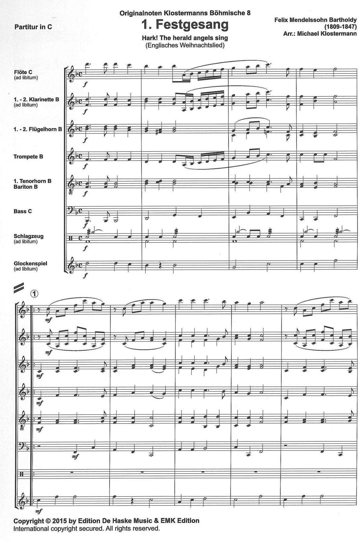 CD für Posaune Tenorhorn Bariton Fröhliche Weihnacht m