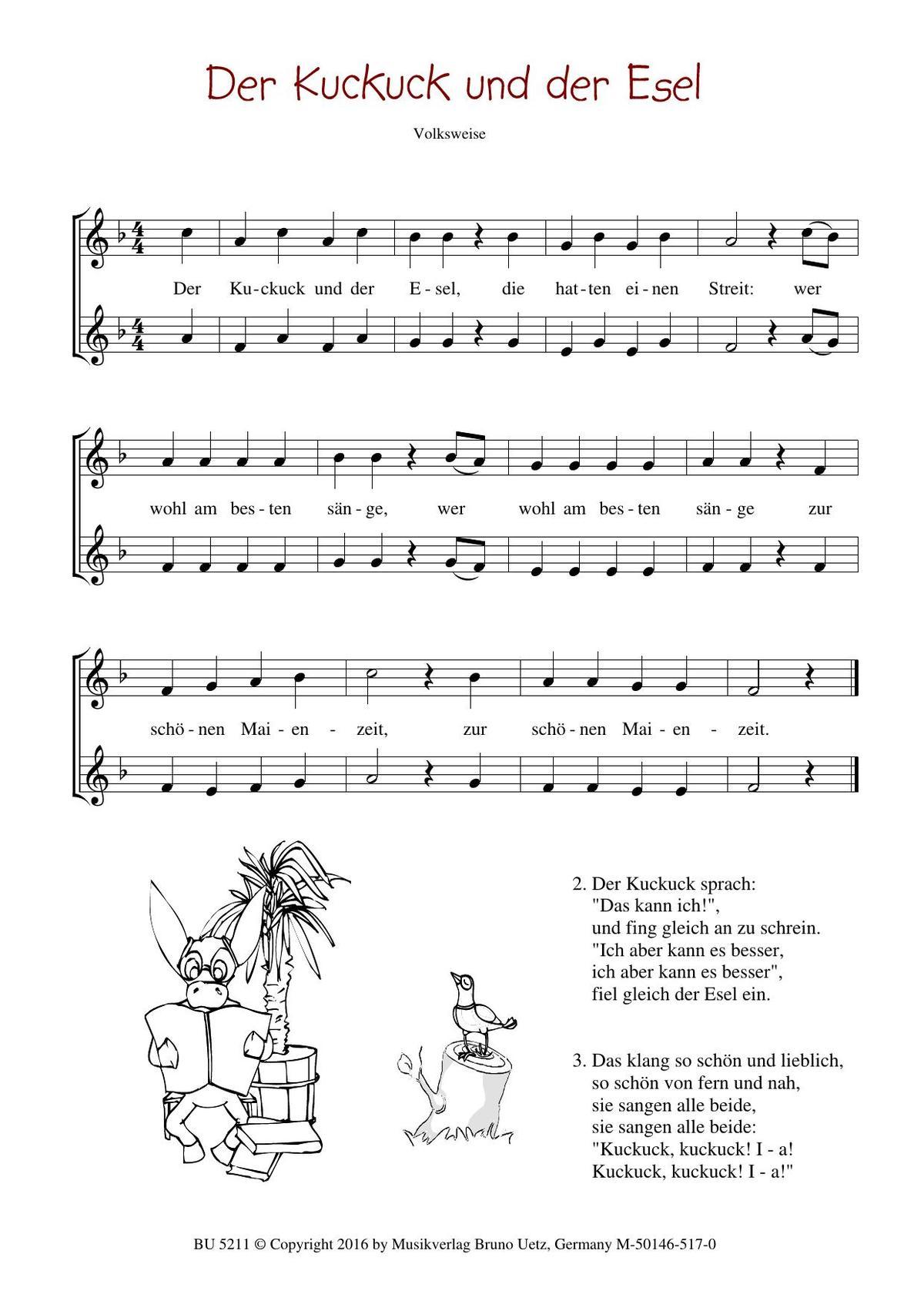 Noten 50 Kinderlieder für zwei Flöten - Band 1 ...