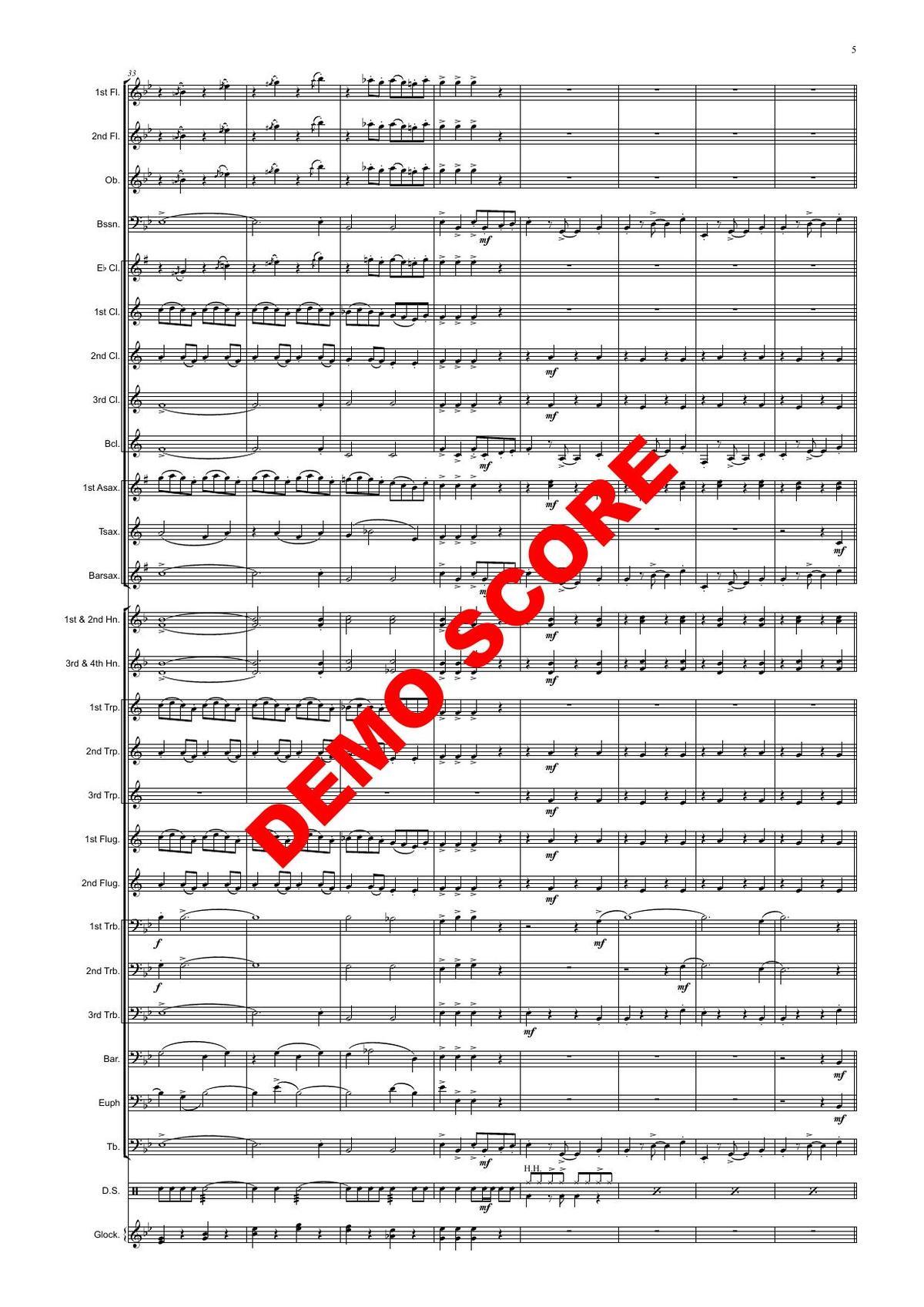 Hit factory - sheet music for flute Thomas H. Graf Germany Quartet Quintet Concert Band, Big band,
