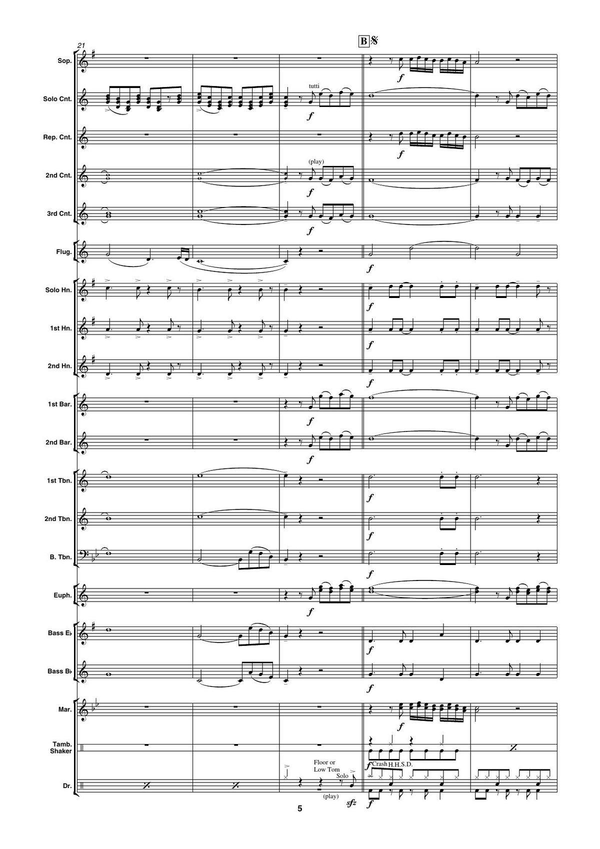 Goodbye My Love Goodbye (Brass Band) | Noten kaufen im