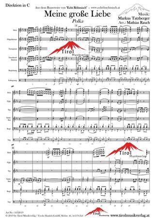 d45b6bdfd2163 Meine große Liebe | Noten - Polkas | Markus Tatzberger | Arr ...