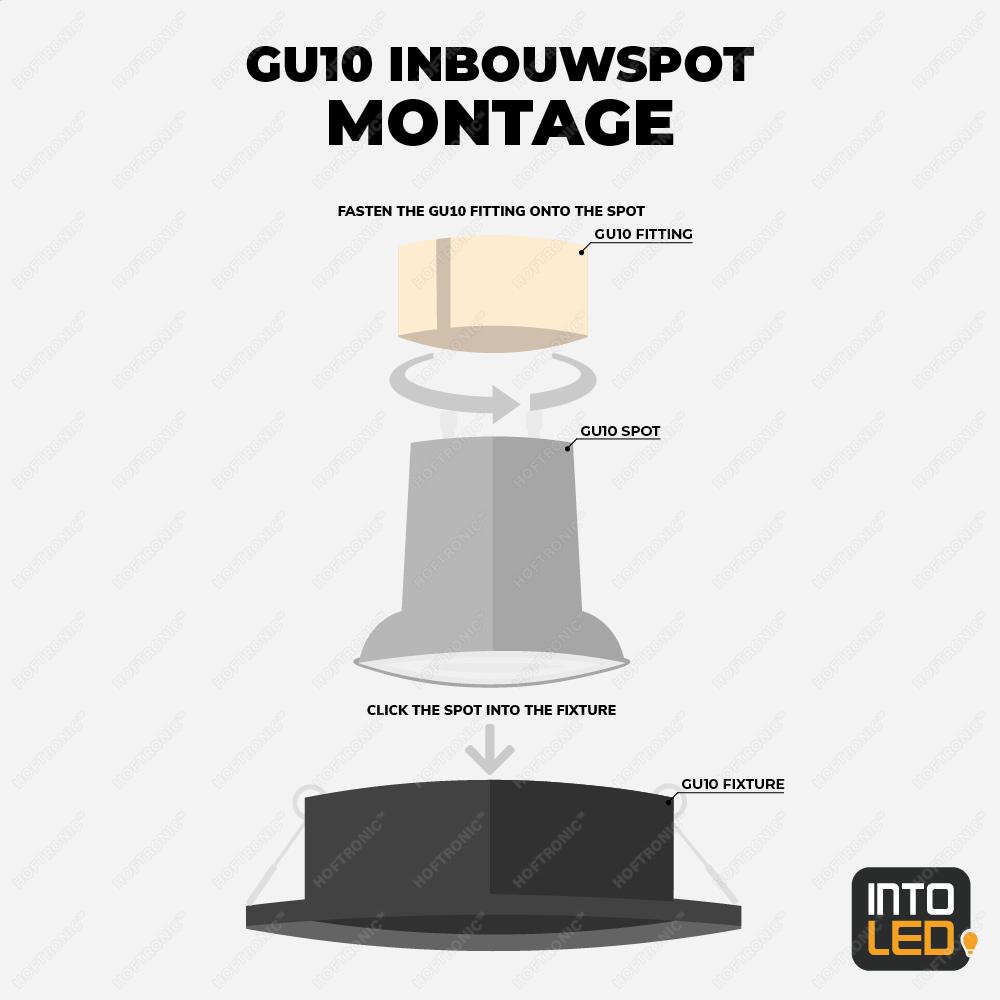 GU10 inbouwspot monteren