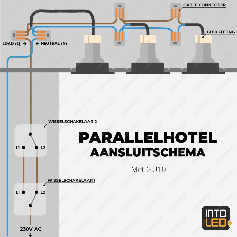 hotelschakeling inbouwspots installeren