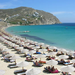Myconos elia beach