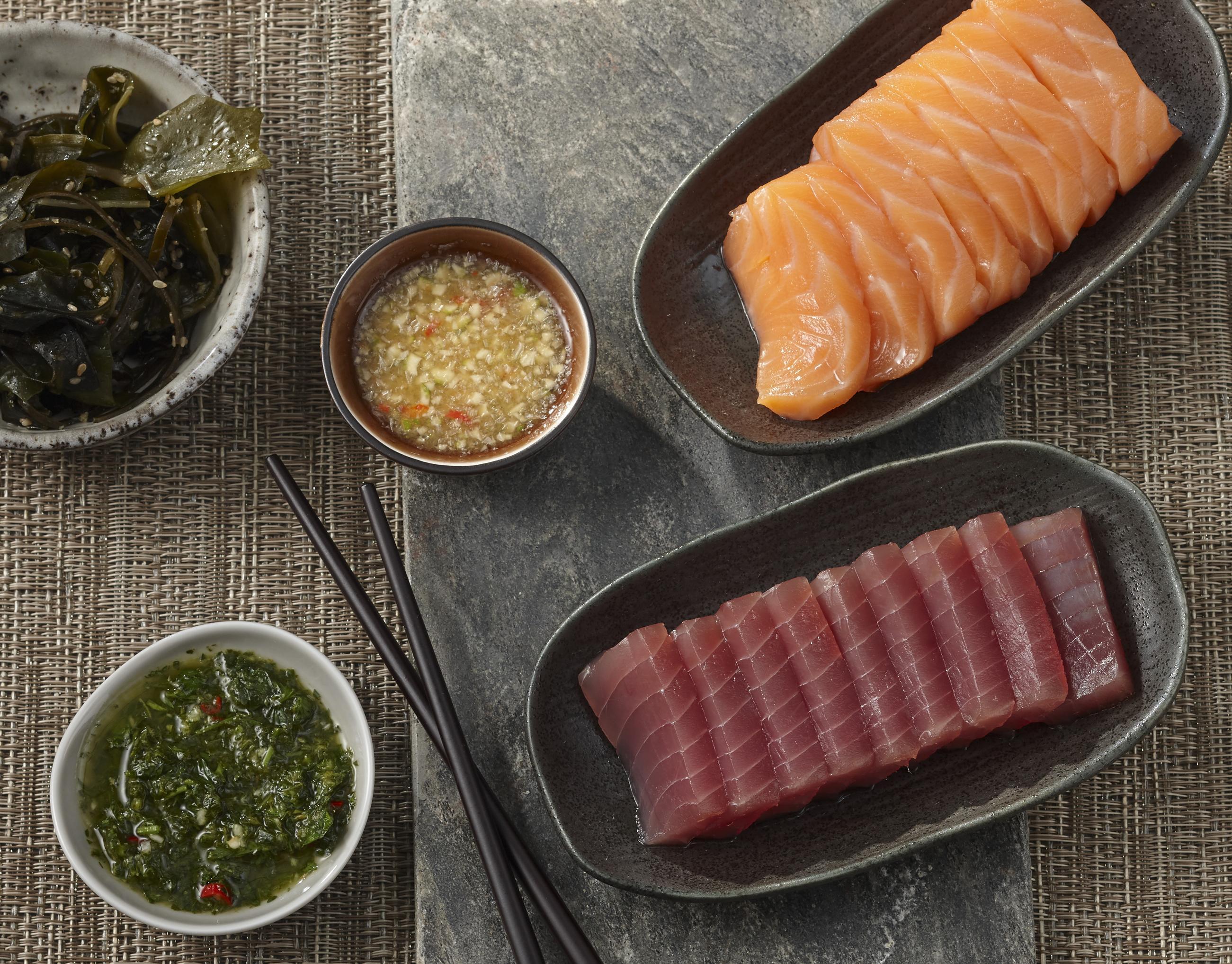 Sashimi vom Lachs & Thunfisch