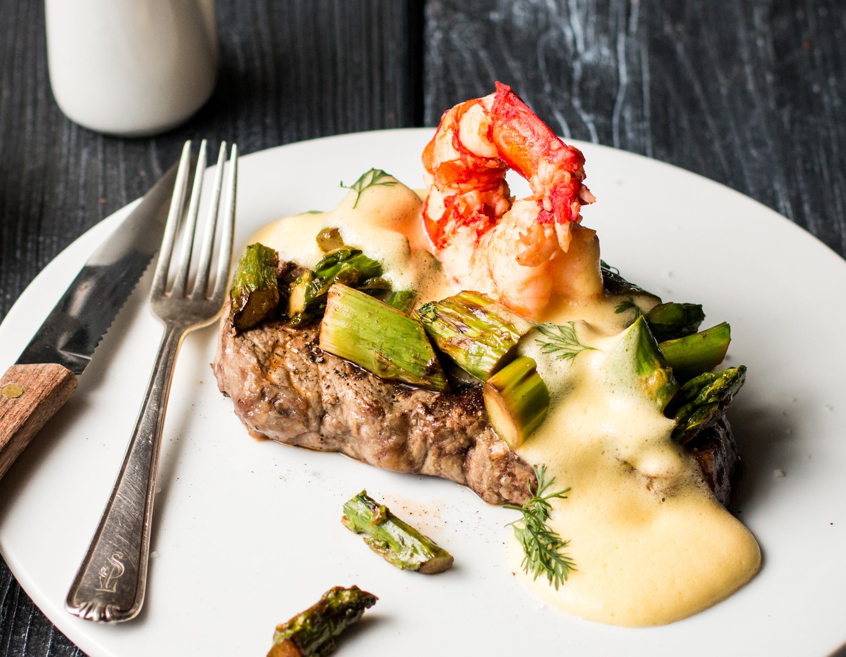 Surf and Turf: Rote Riesengarnele de luxe