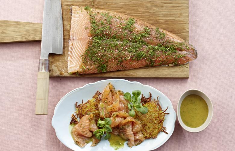 Graved-Lachs-mit-Honig-Senf-Sauce-Rezept-Vorspeise-780x500
