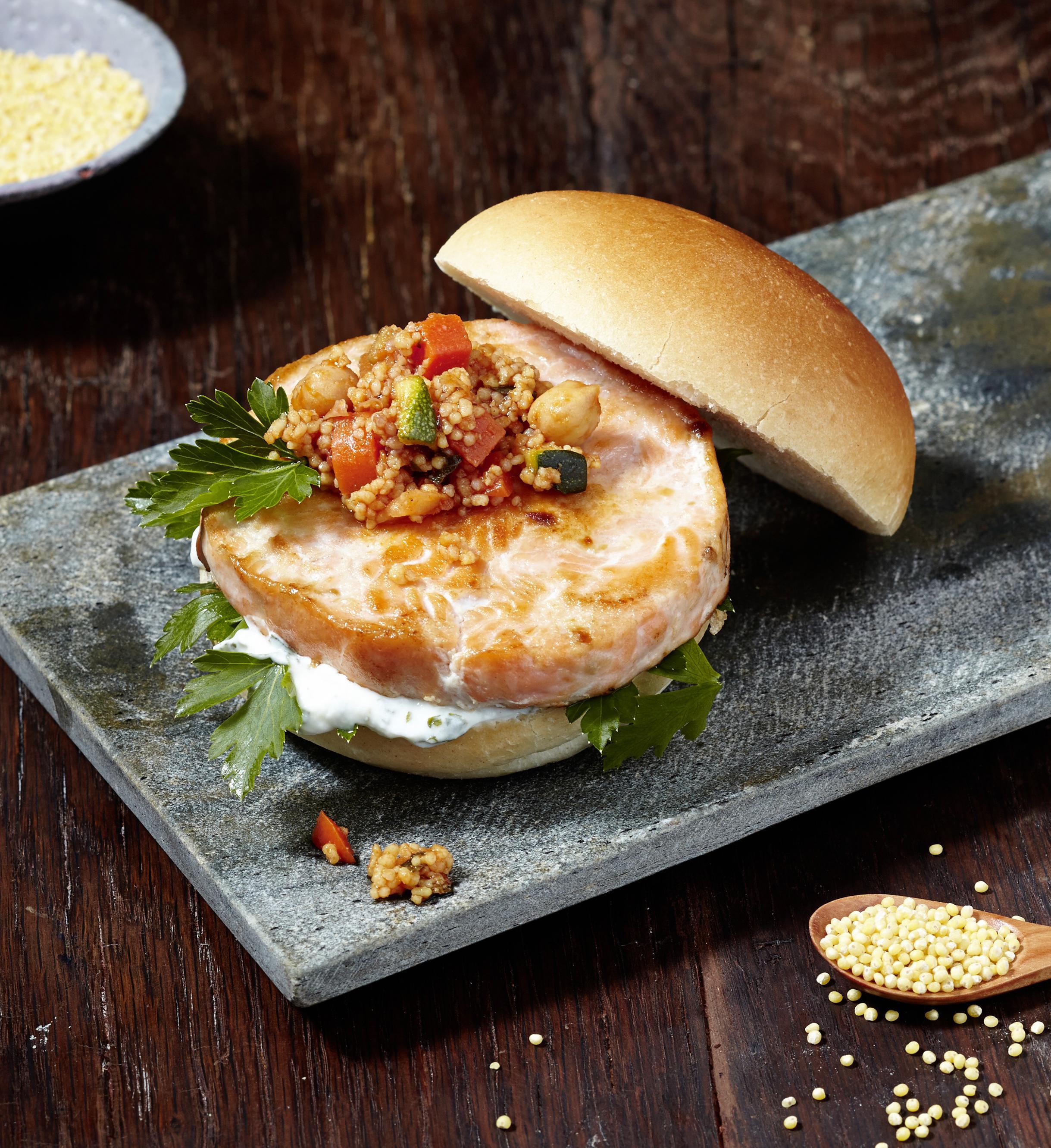 lachs burger orientalisch lachs auf die burger hauptgerichte rezepte deutsche see. Black Bedroom Furniture Sets. Home Design Ideas