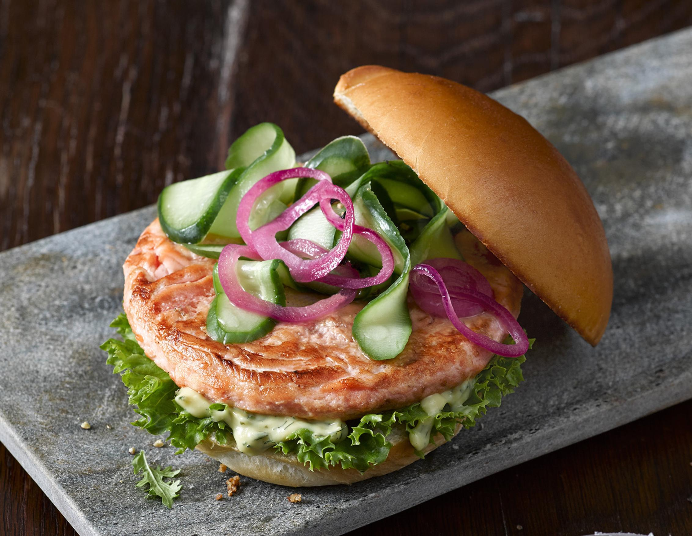 Burger mal ganz anders: Unser Lachs Patty