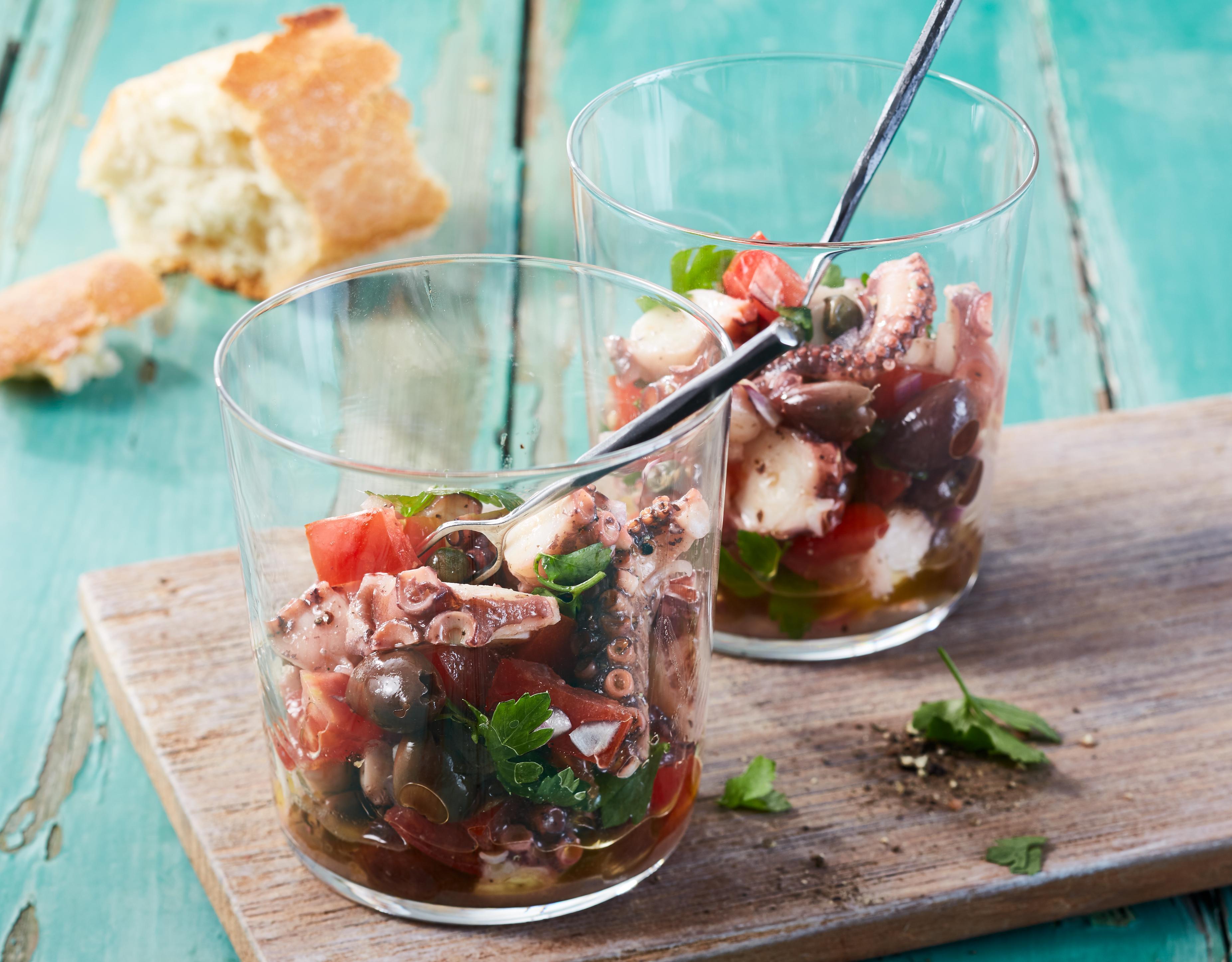 Mediterraner Pulpo-Salat