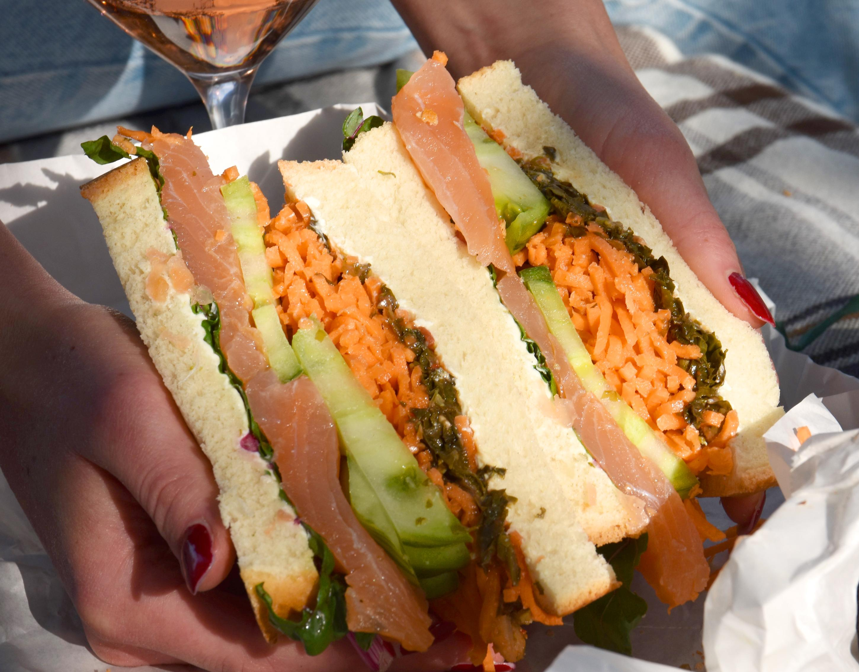 Wanpaku-Sandwich mit Räucherlachs