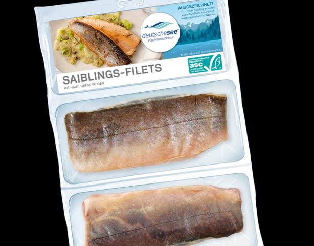 Saiblings-Filets und japanische Kammmuscheln