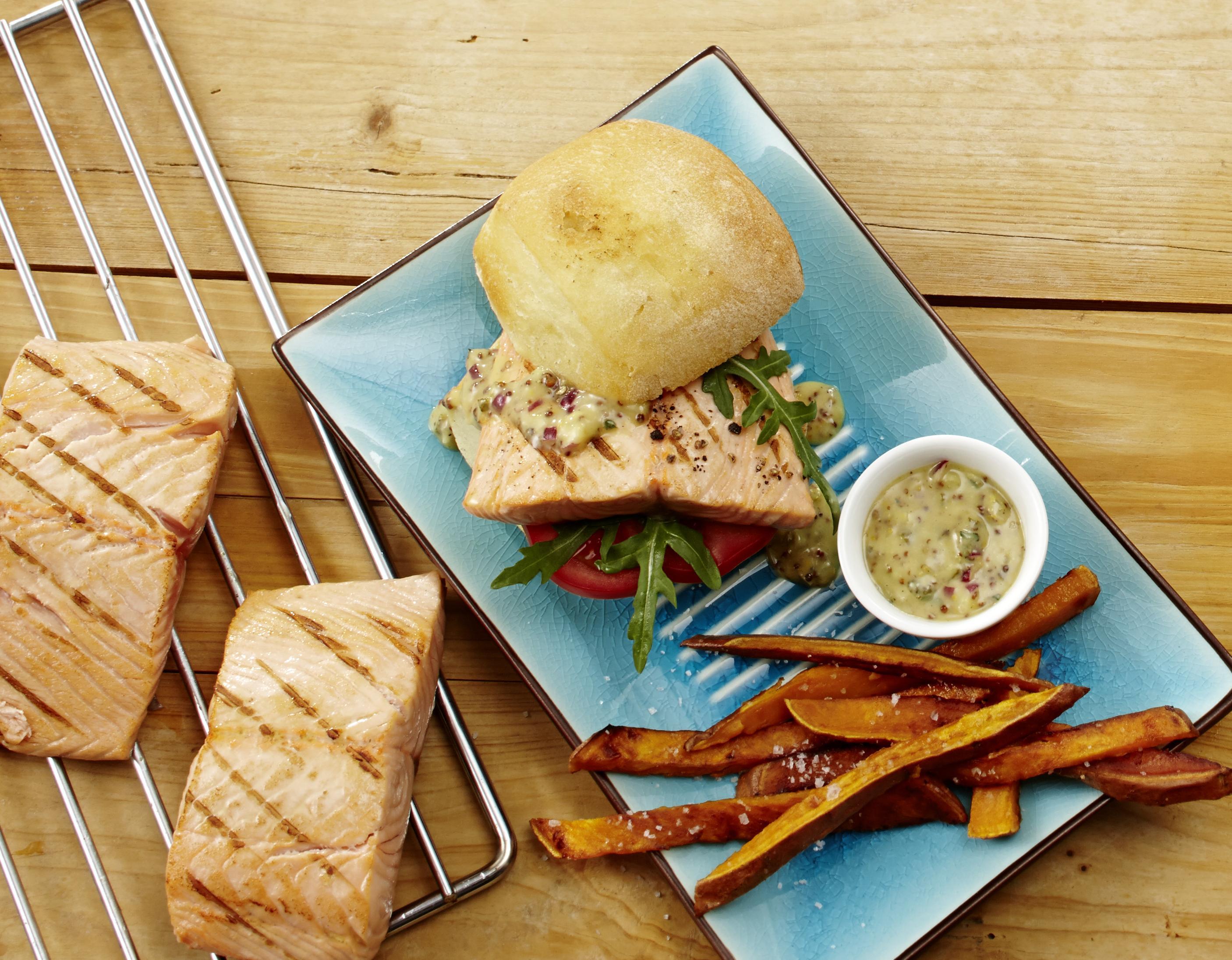 Fischburger Lachs
