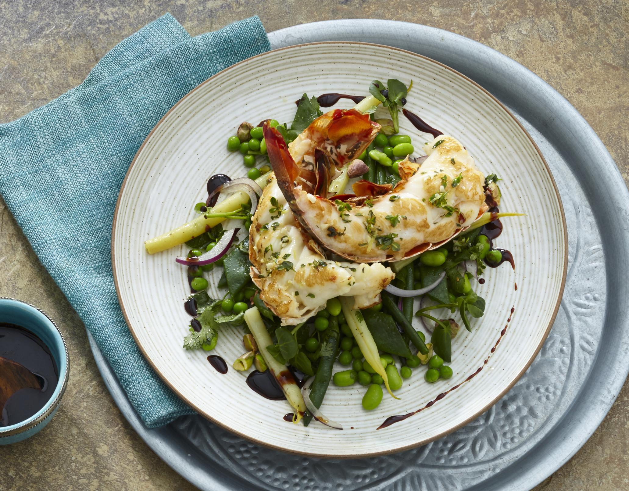 Languste mit orientalischem Salat
