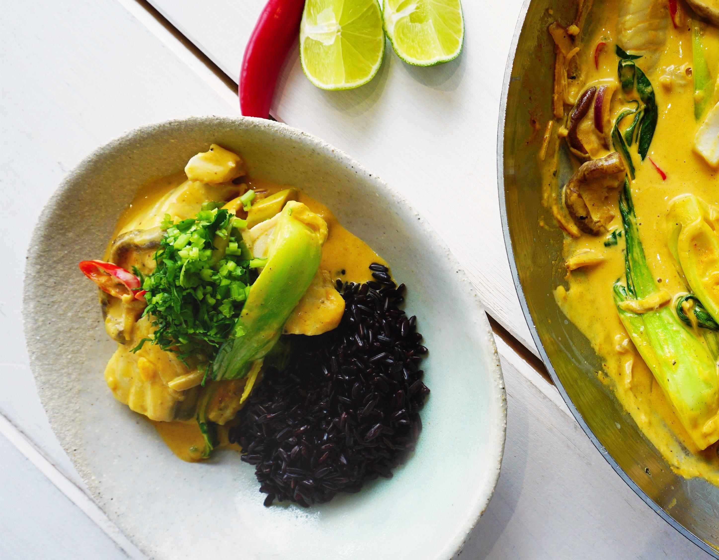Fisch-Curry mit Seelachs
