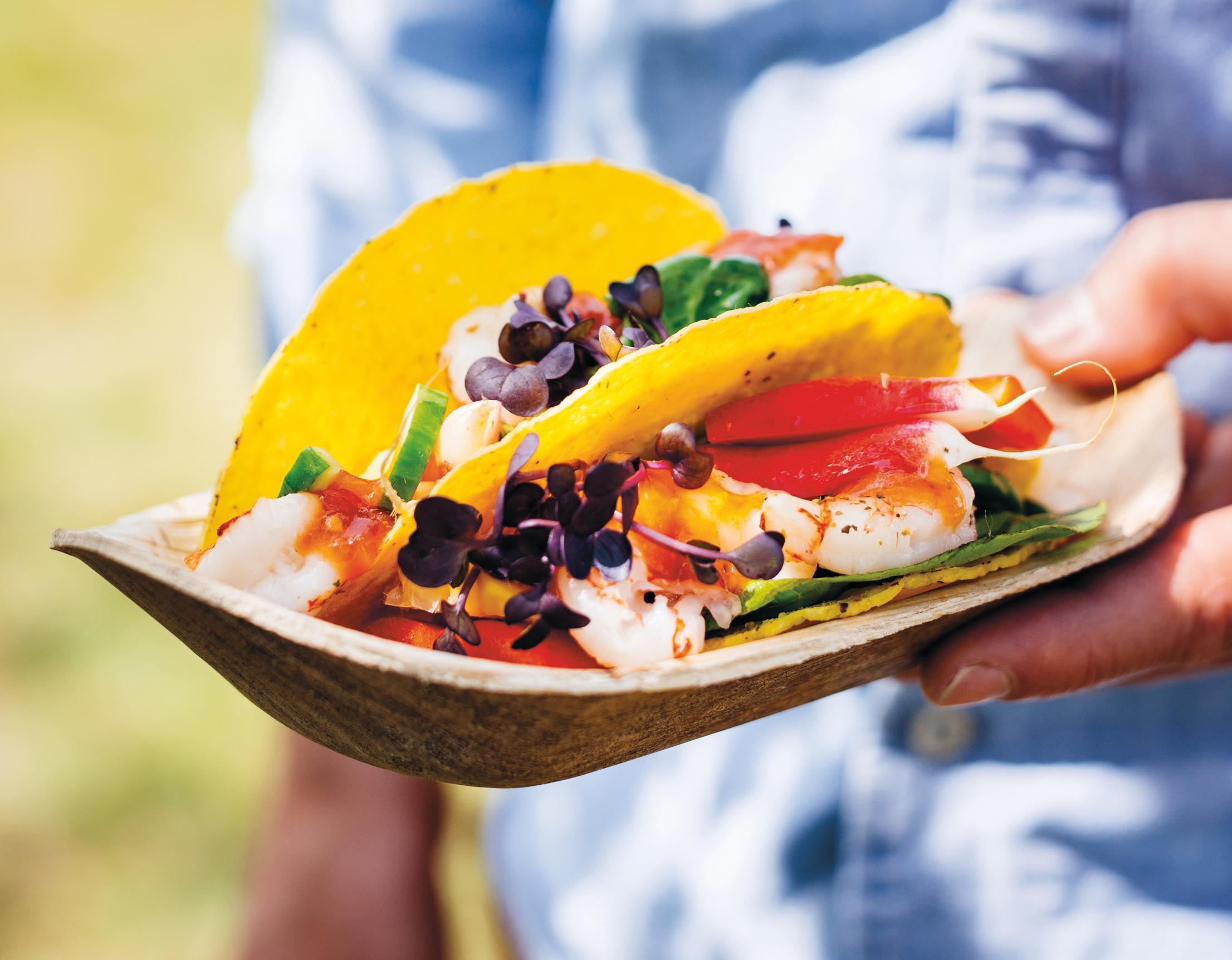 Garnelen-Tacos mit Tomatensalsa