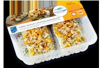 Frischer-Fisch-aus-dem-Kuehlregal-Kabeljaufilet-Pfifferlingskruste-Produkte-Spezialitaeten