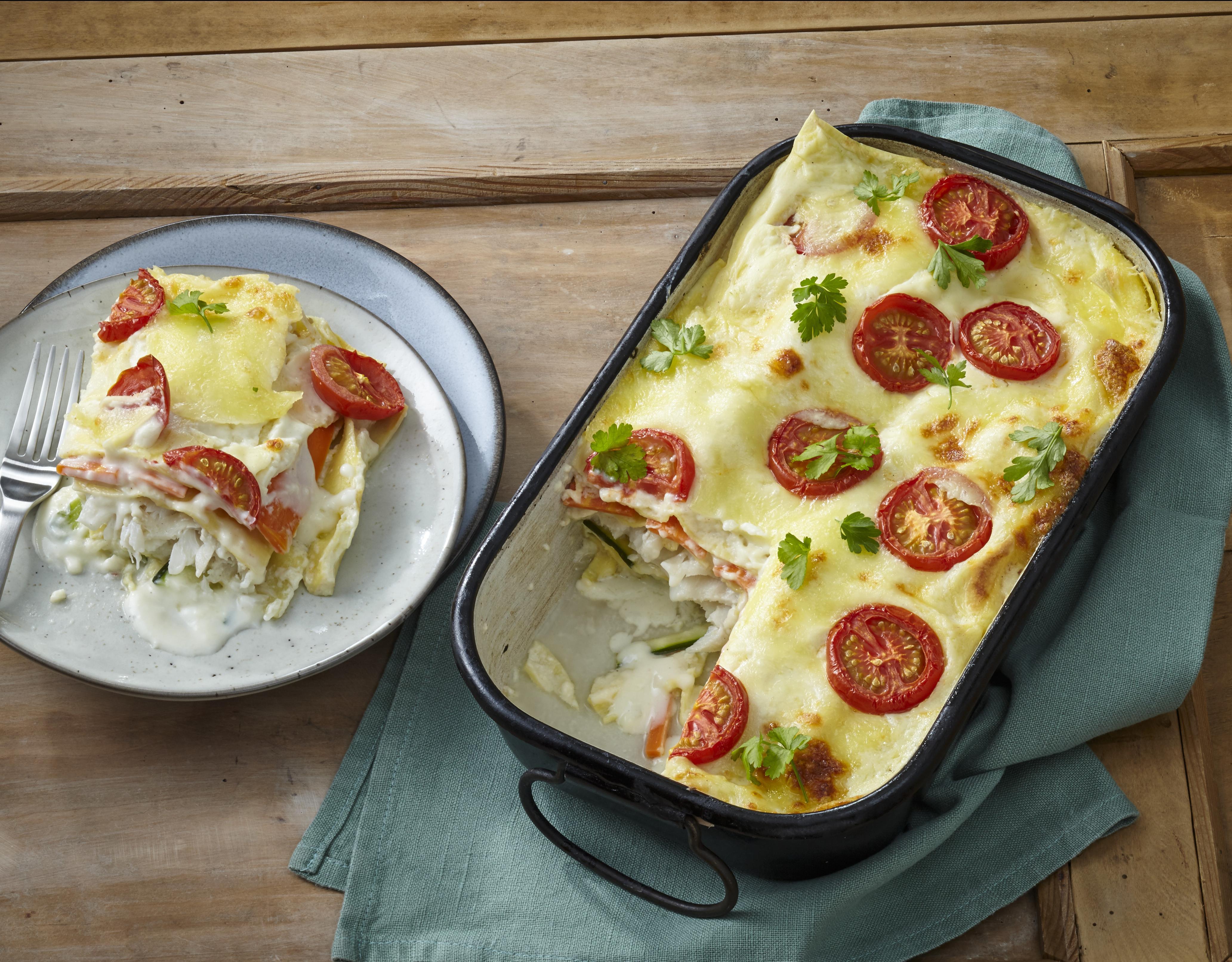 Lasagne mit Kabeljau