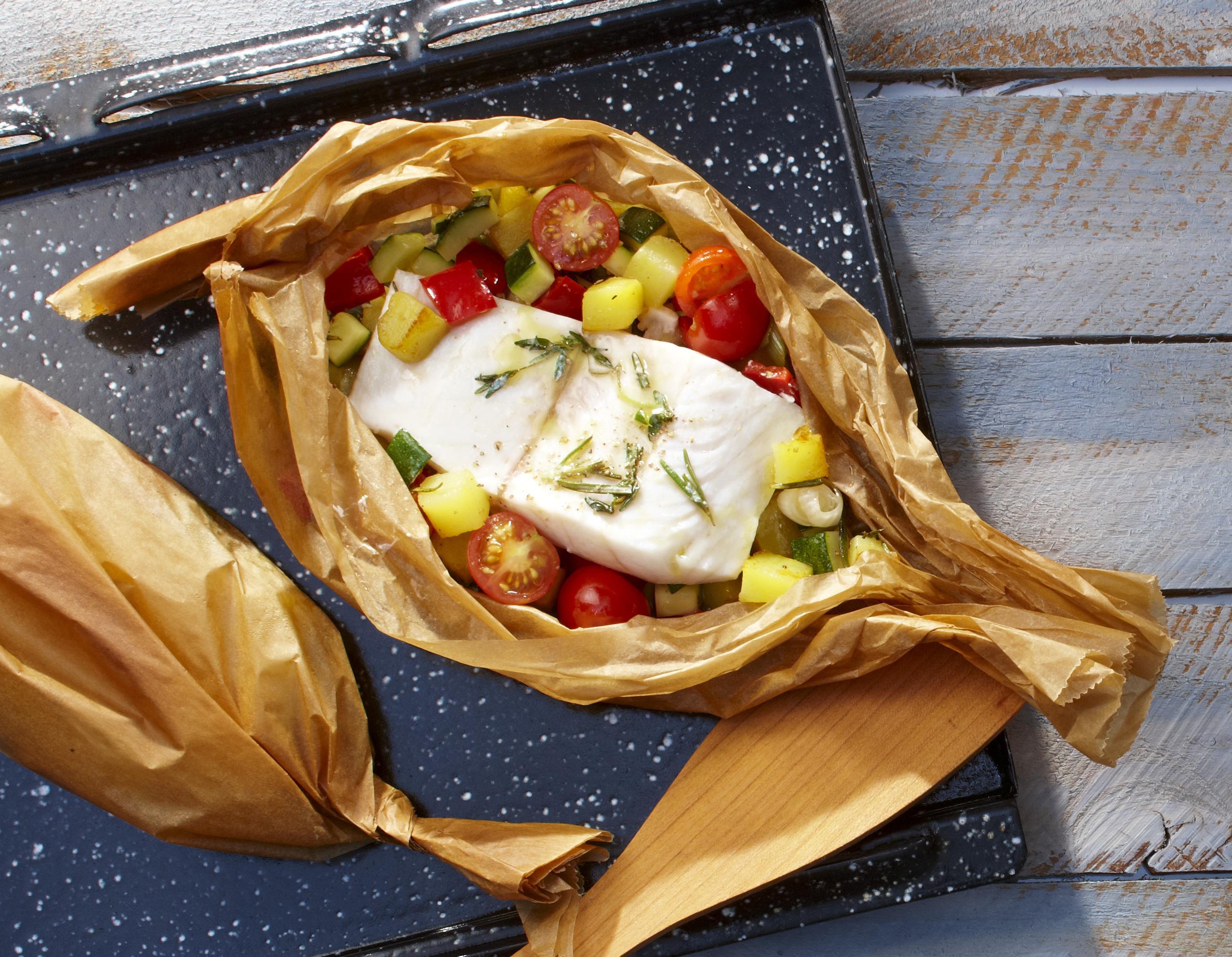 Victoriaseebarsch-Gemüse-Päckchen