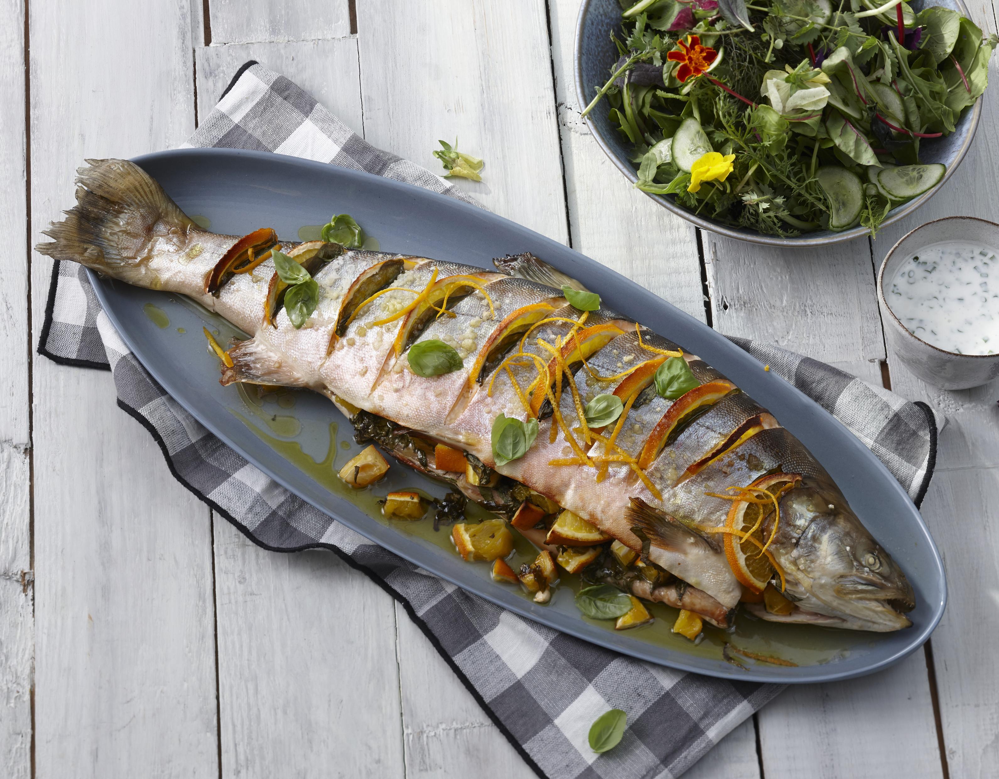 Saibling mit isländischem Salat