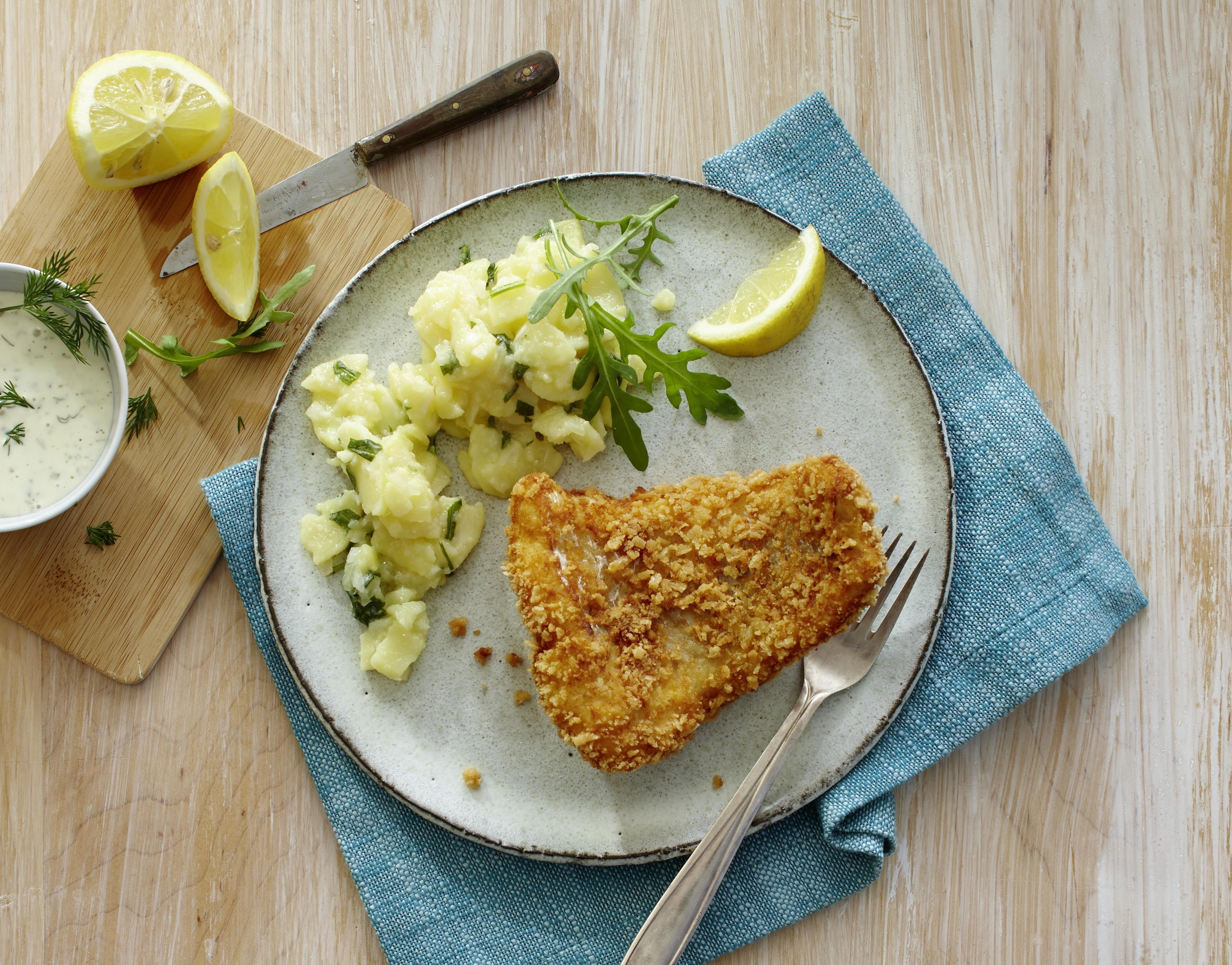 Omas frischer Seelachs-Backfisch