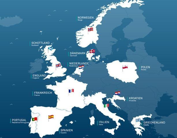 Fische auf den Speisekarten Europas