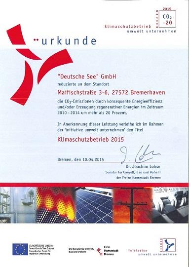 Klimaschutzbetrieb-Urkunde-Auszeichnungen