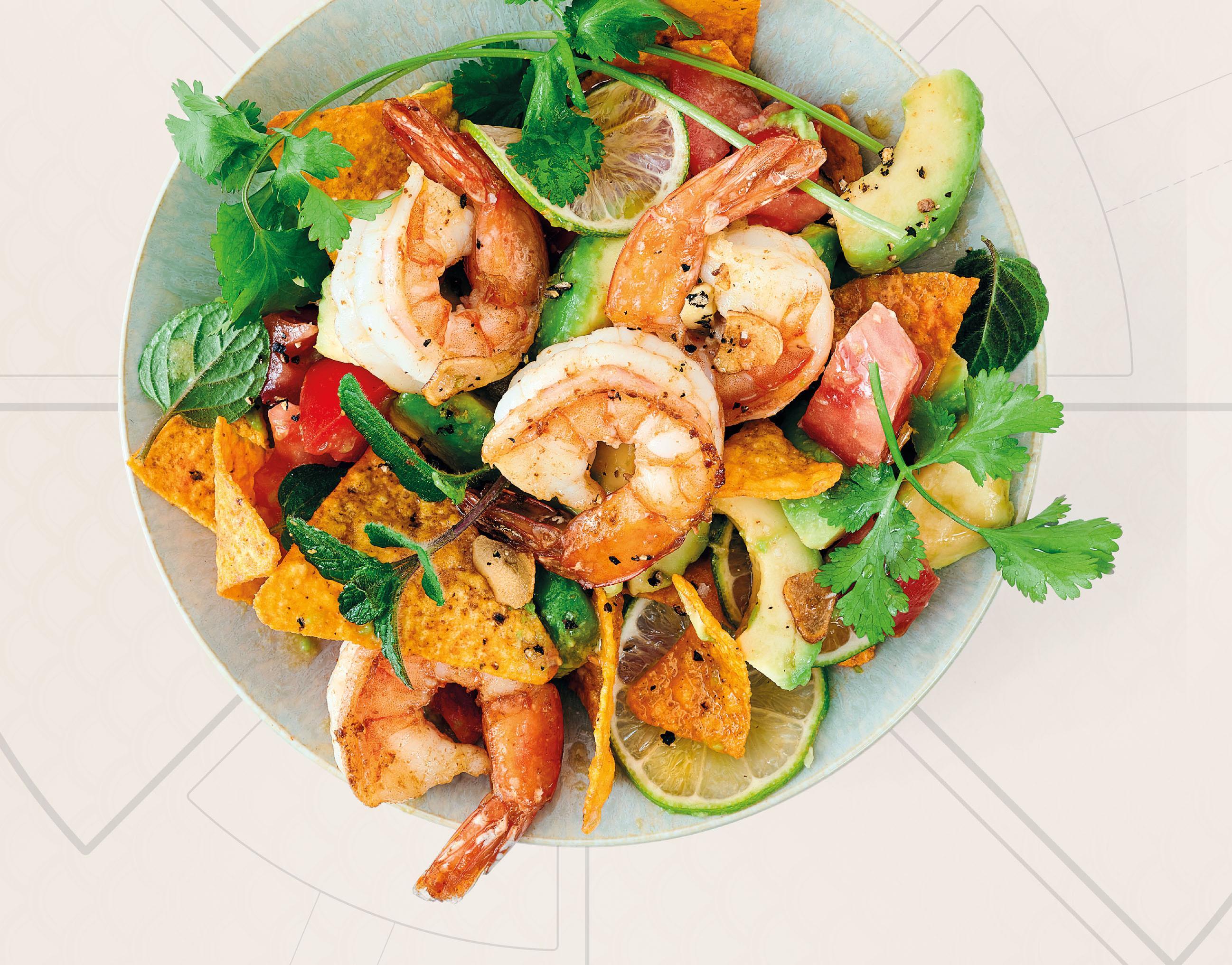 Crunchy-Garnelen-Salat