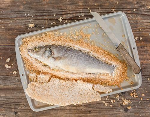 Salzkruste entfernen