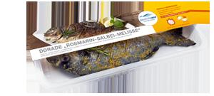 Frischer-Fisch-aus-dem-Kuehlregal-Dorade-Rosmarin-Salbei-Melisse-Produkte-Spezialitaeten