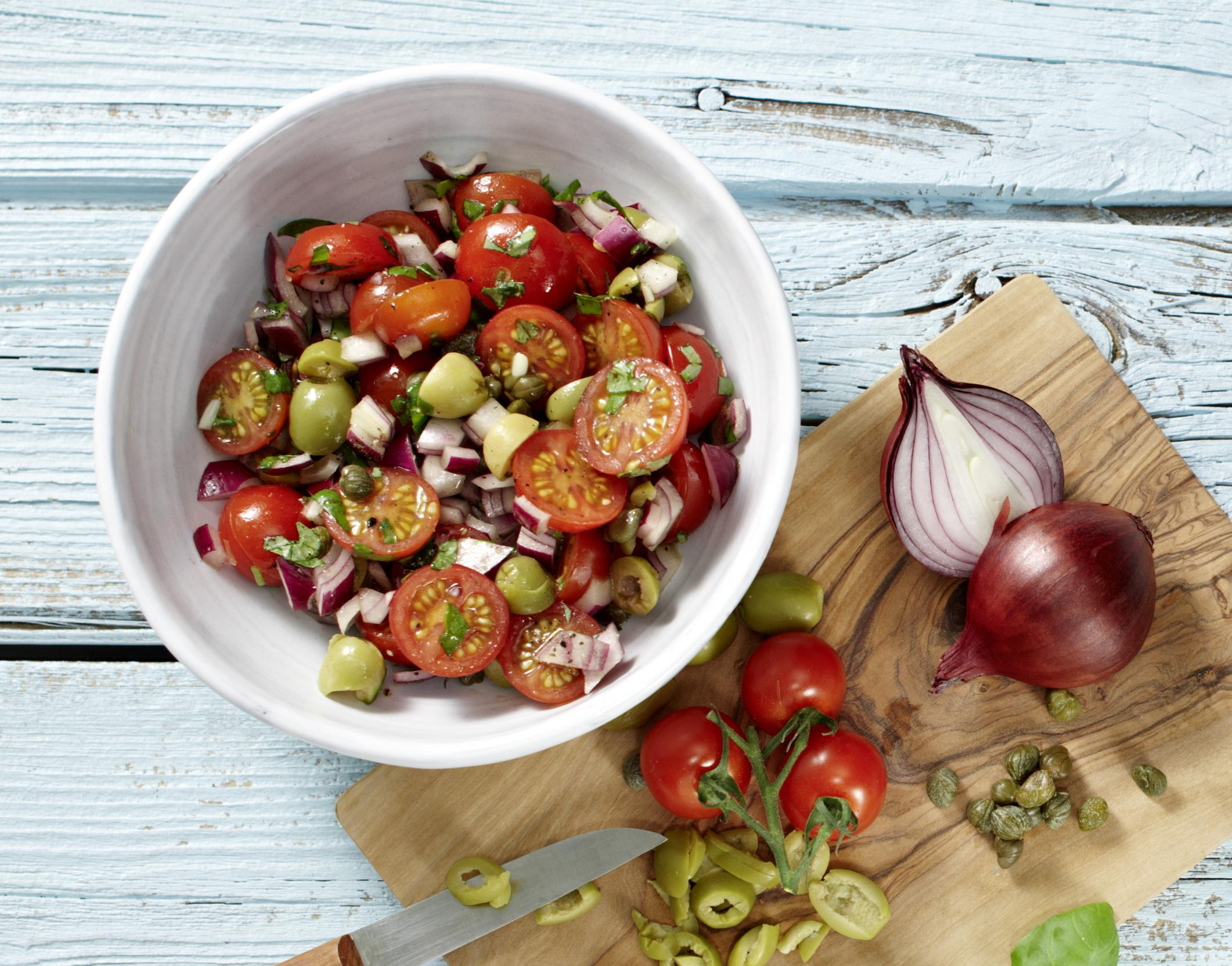 Kapern-Tomaten-Oliven-Füllung