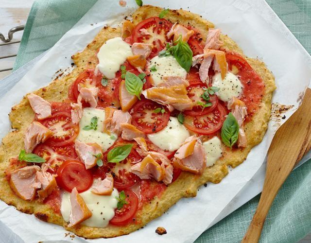 Rezept: Low Carb-Pizza mit Stremellachs