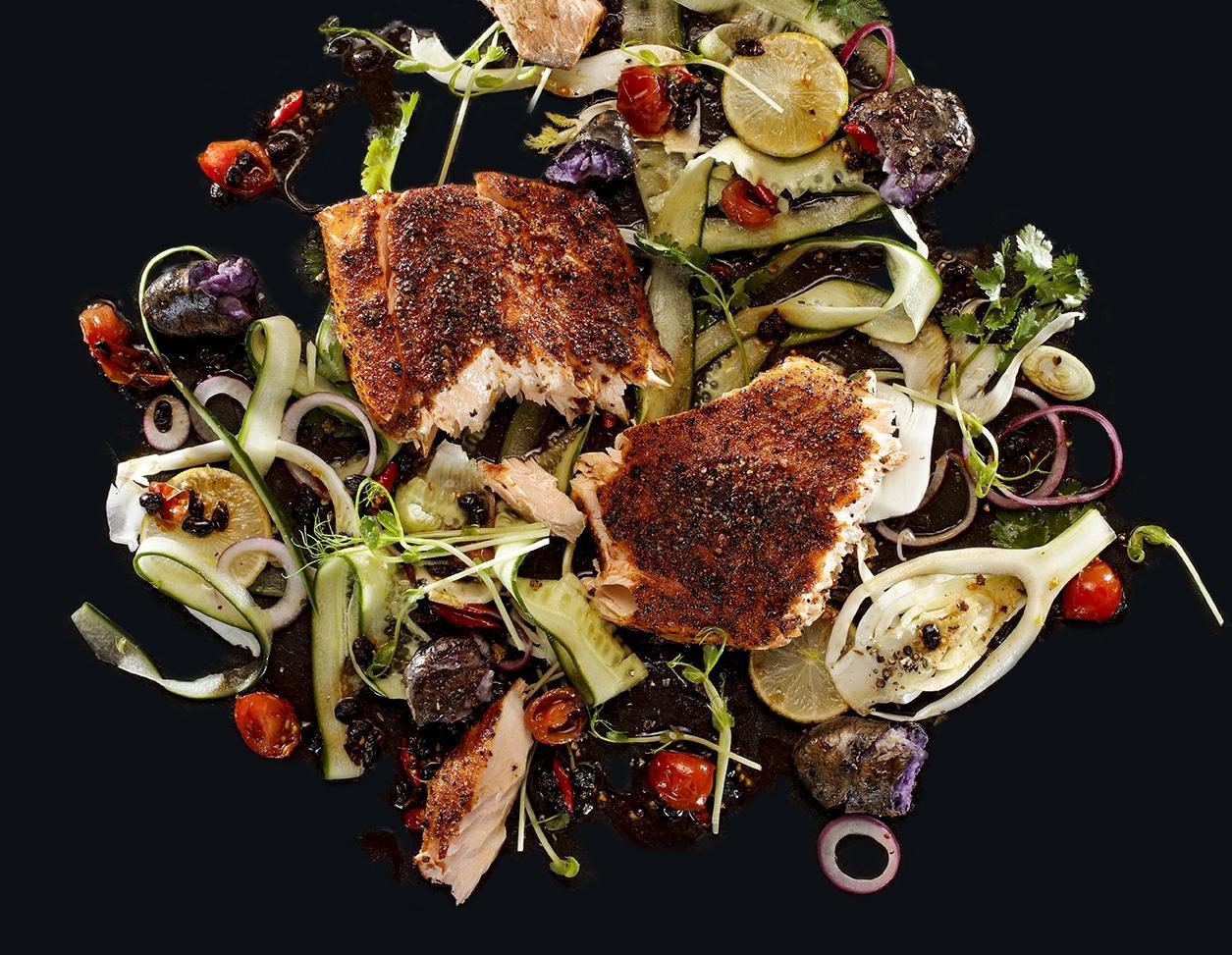BEEF!-Lachs mit spicy Salat