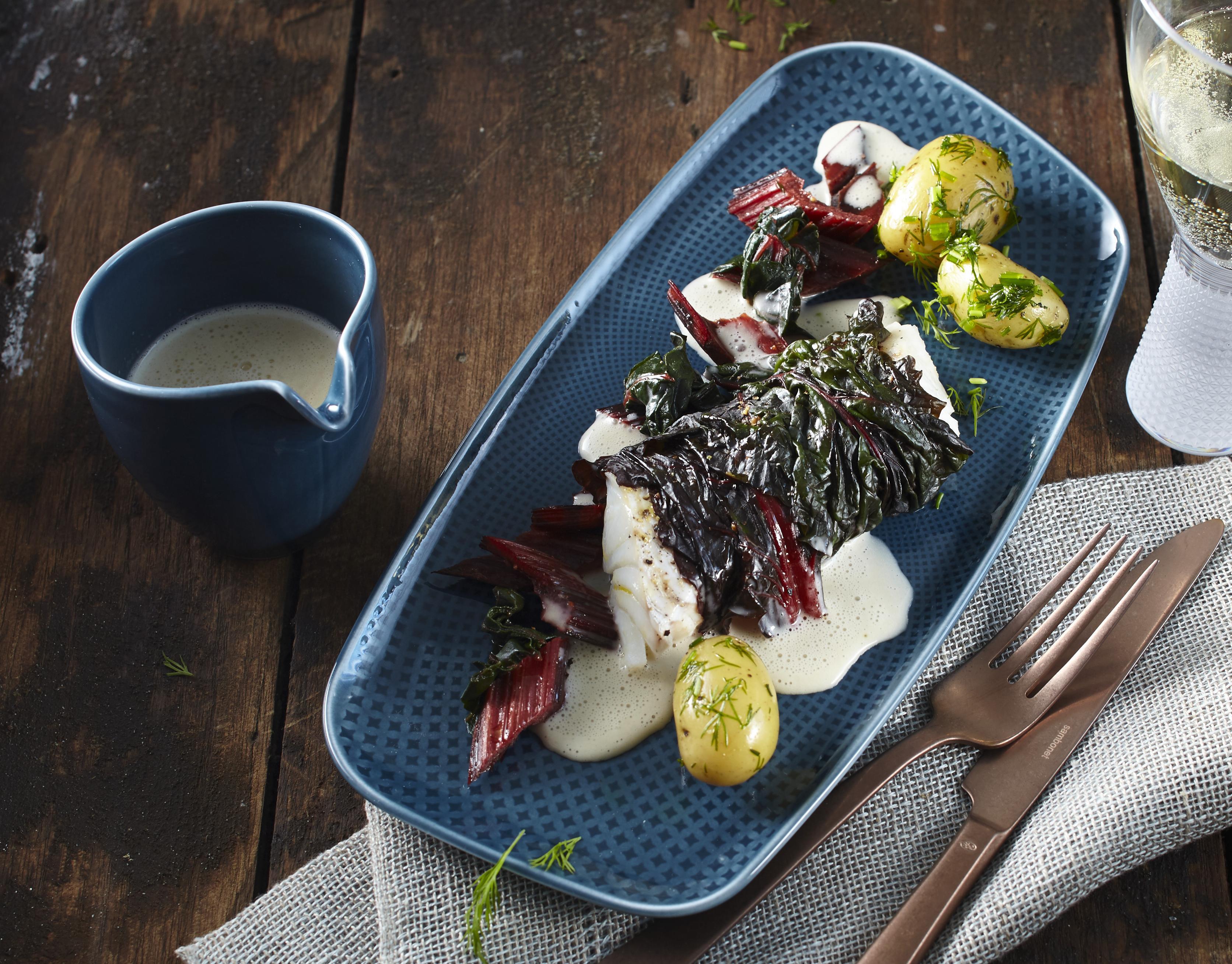 Rezept Isländischer Schellfisch im Mangoldblatt