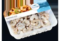 Frischer-Fisch-aus-dem-Kuehlregal-Garnelen-Produkte-Spezialitaeten