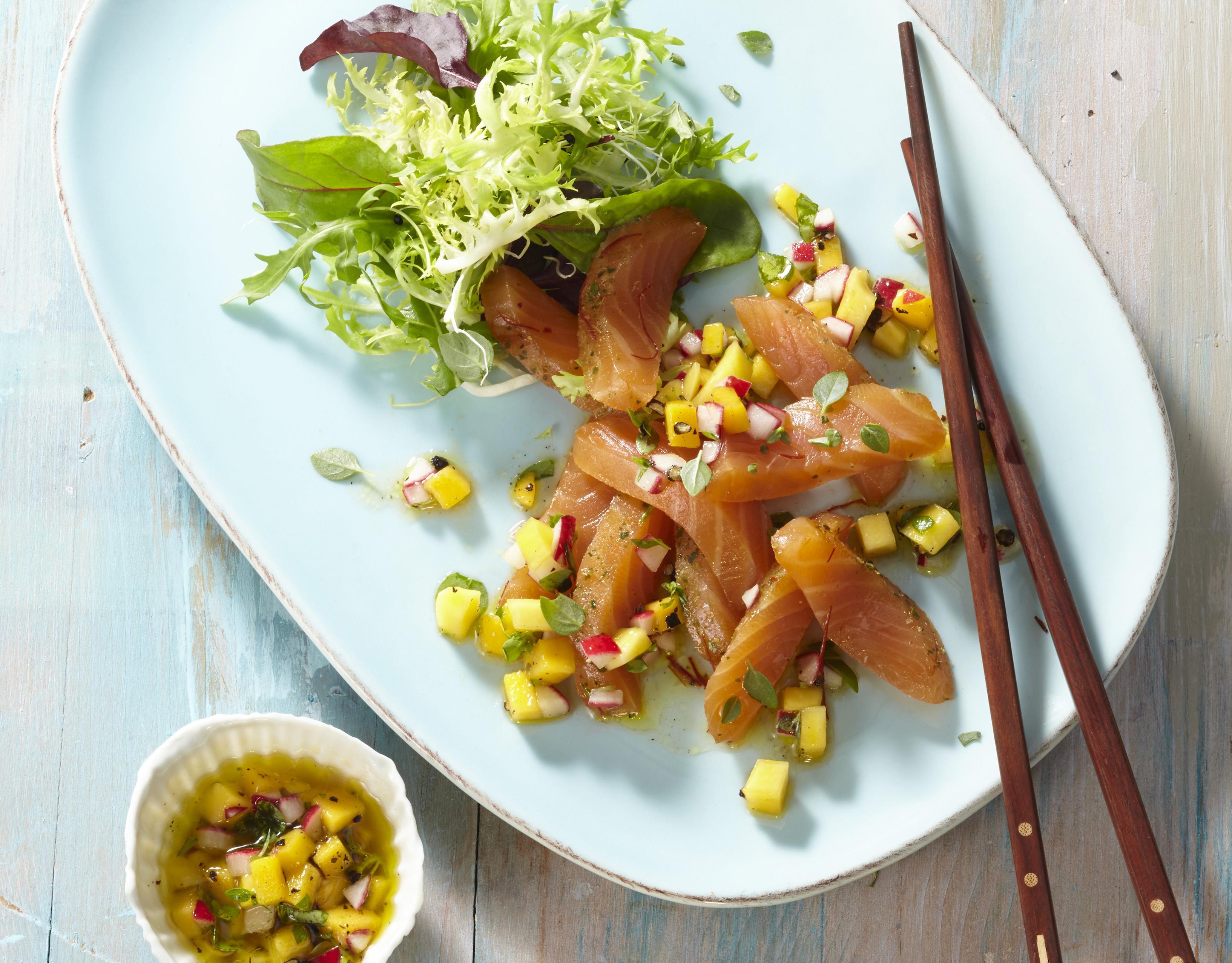 Thailachs mit Mango-Salsa