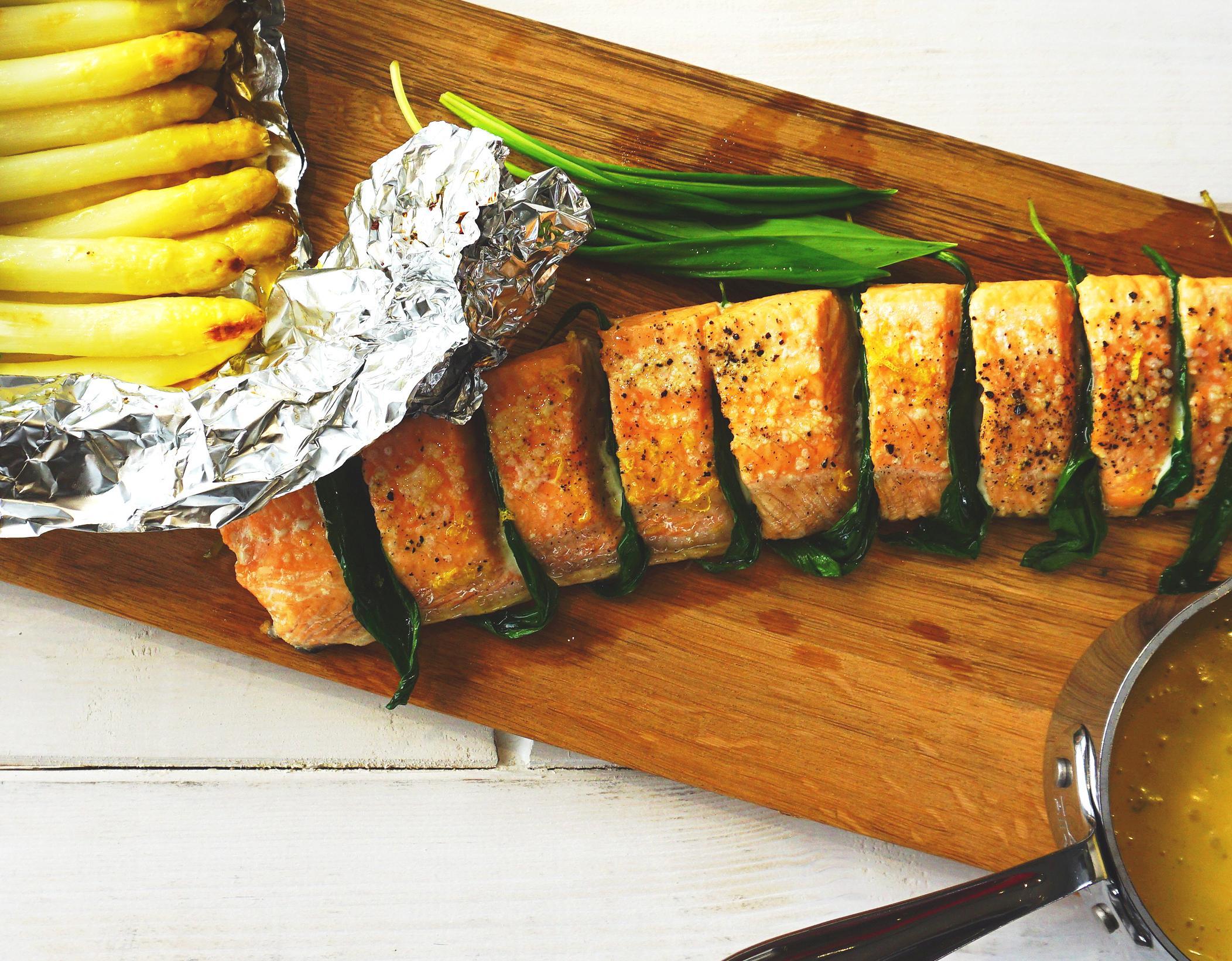Lachs mit Bärlauch & Ofen-Spargel
