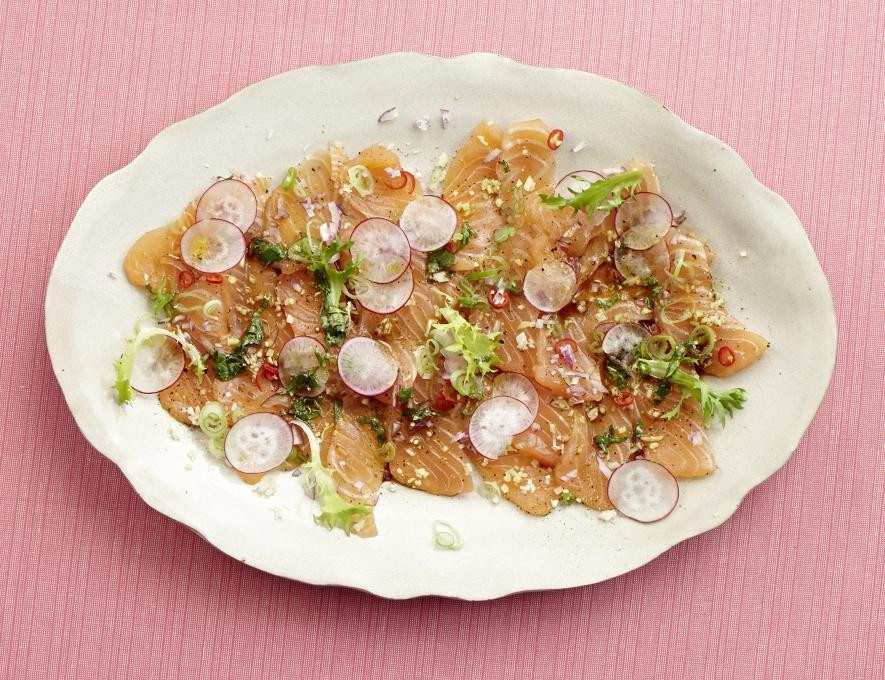Asiatisches Lachs-Carpaccio