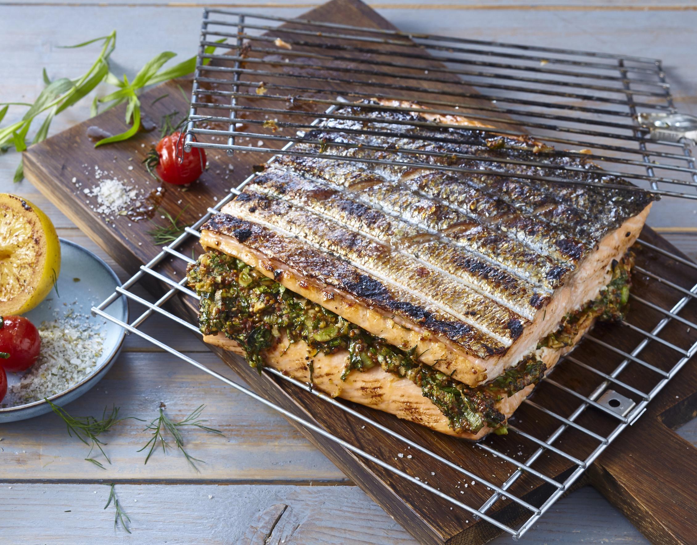 Sandwich-Lachs vom Grill