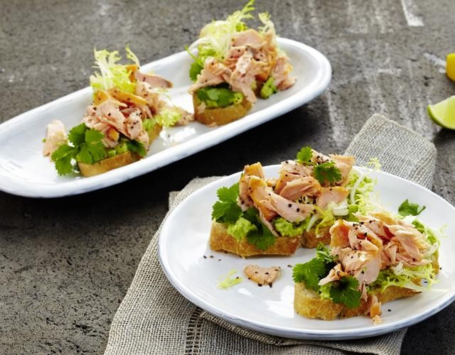 Rezept: Pulled Salmon Crostini
