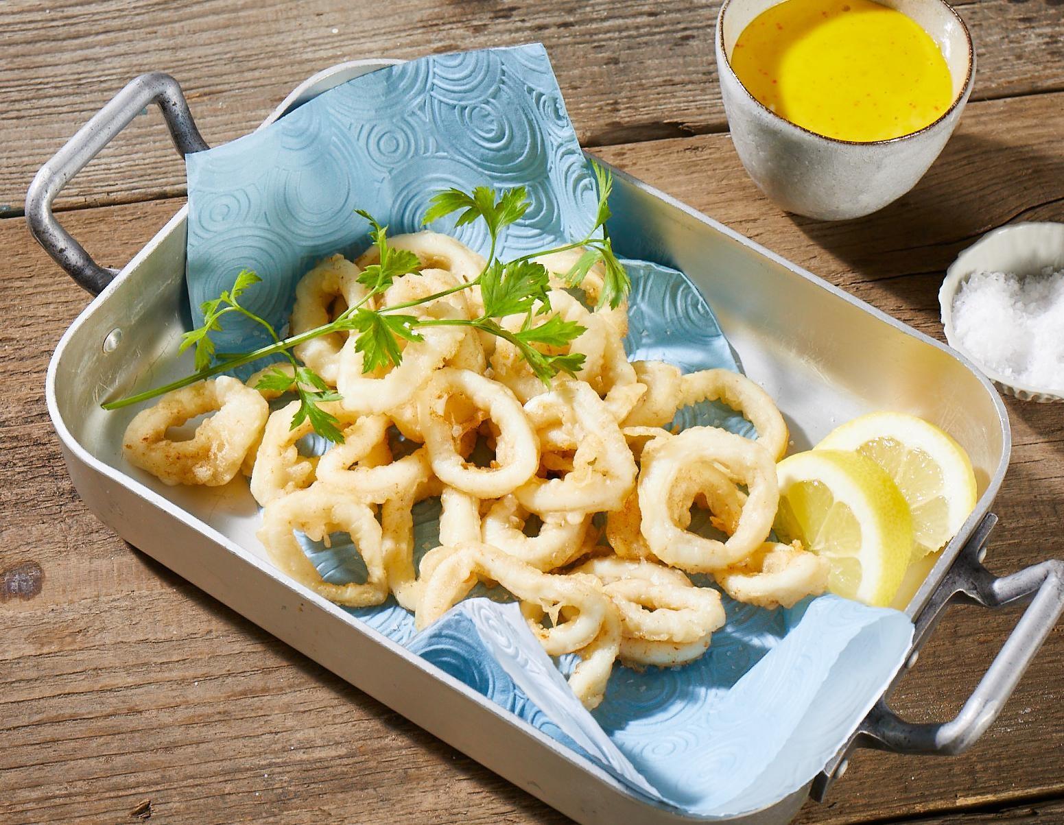Calamari in Tempurateig mit Aioli
