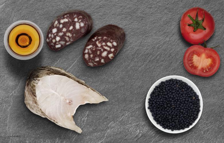Aromen-kombinieren-Kabeljau-Blutwurst-mit-Linsen