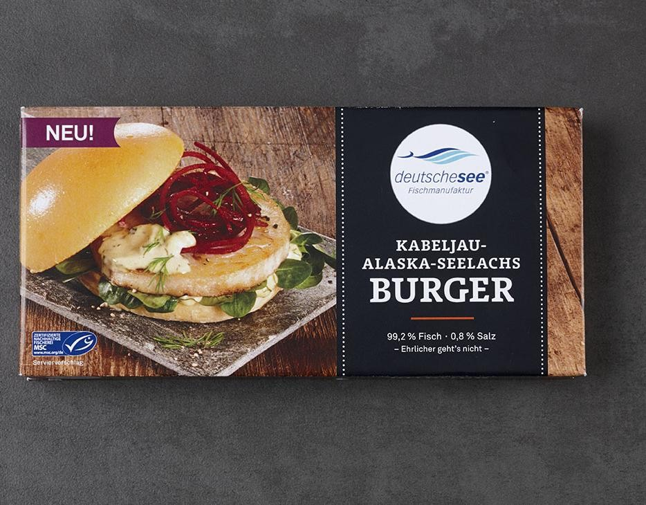 Kabeljau-Alaska-Seelachs Burger jetzt kaufen!