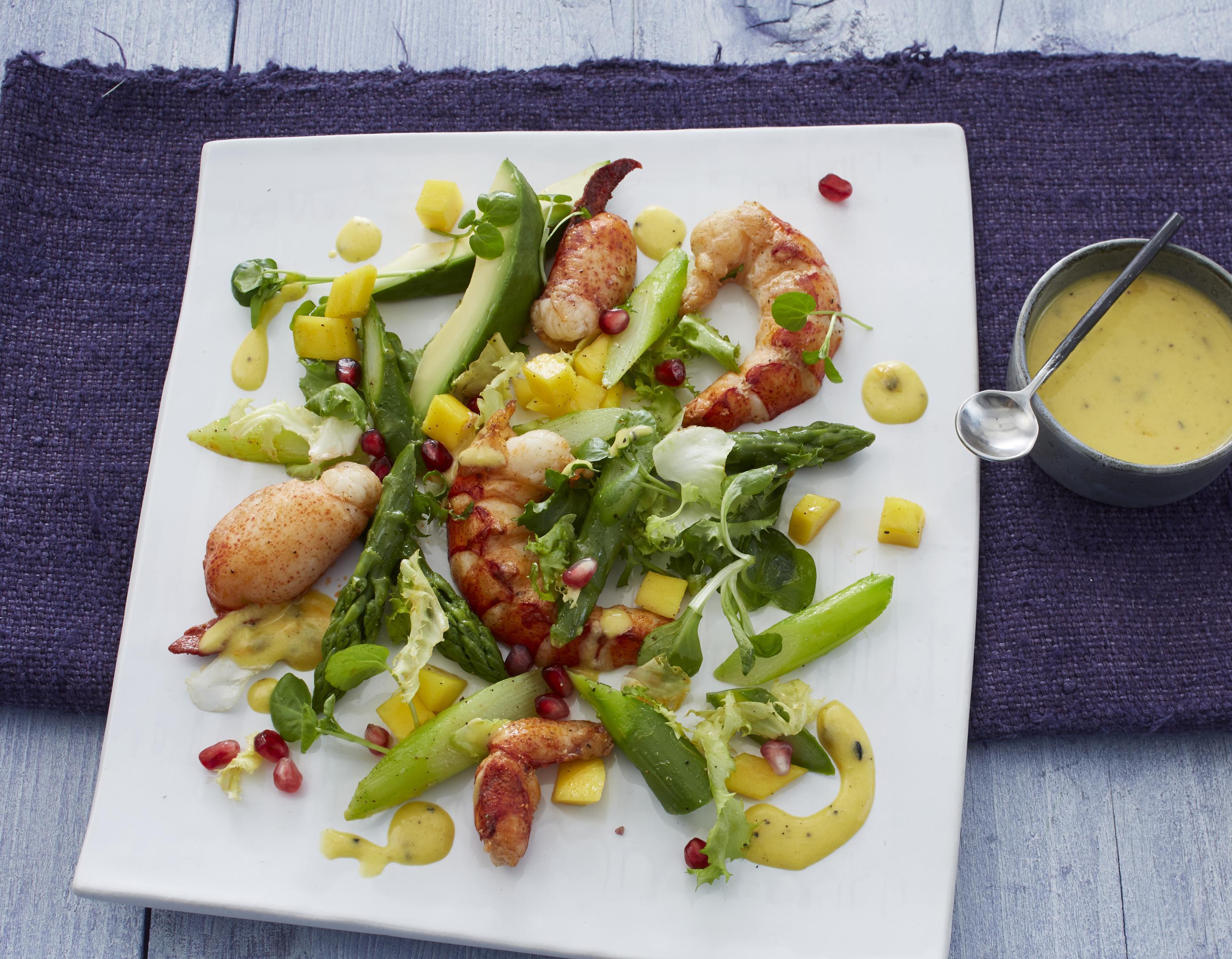 Hummer mit Sommersalat