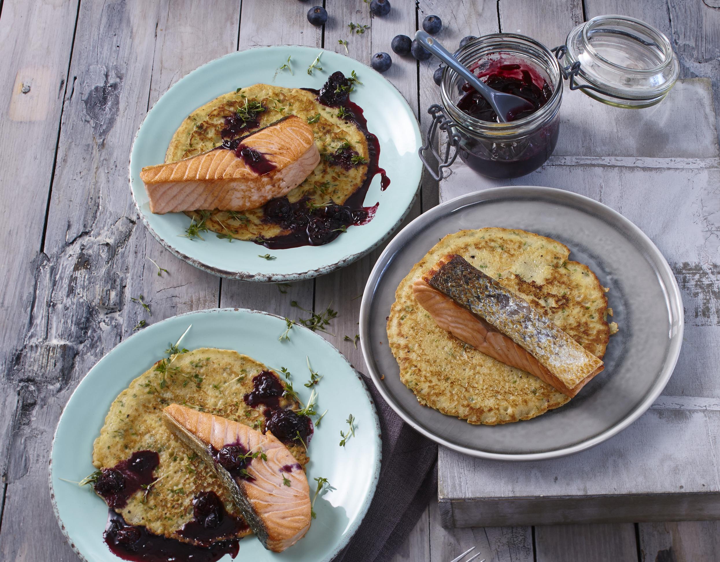 Rezept Lachs auf isländischem Kartoffel-Pfannenkuchen