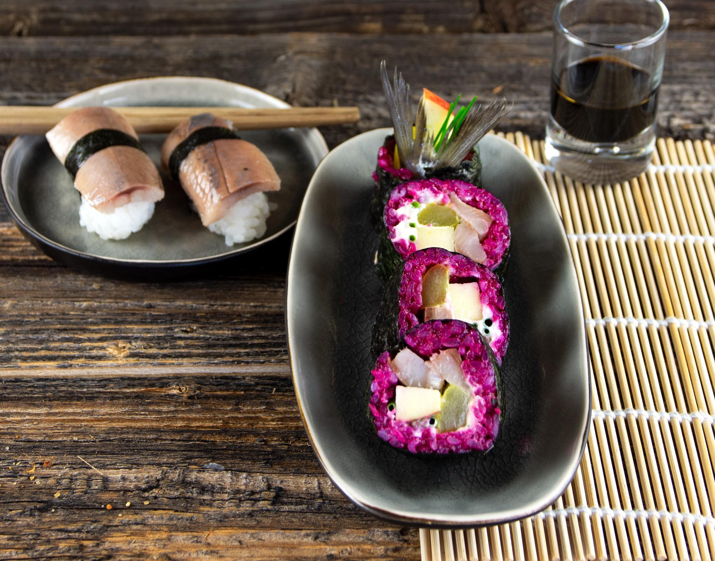Matjes-Sushi